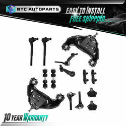 14pc Front Suspension Kit Control Arm Tie Rod For 1999-2005 Chevy S10 Blazer 4wd