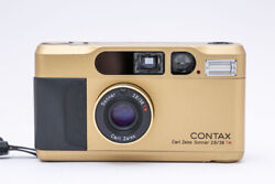 Contax T2 Gold 35mm Point And Shoot Film Camera 【maintenance Completed Item】japan