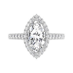 1.78 Ct Natural Diamond Woman Engagement Ring 14k Solid White Gold Size 5 6 7 8