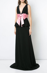 Bow Detail Gown Dress- With Tags- Rrp6900 Aud