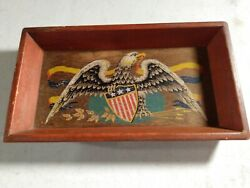 Yorkraft Vintage The Eagle Entertainment Wall Hanging Wooden Patriotic Sign