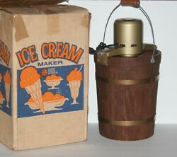 Vintage Sears Ice Cream Freezer Maker Mcm 4 Qt Electric With Box 60and039s S245-1902