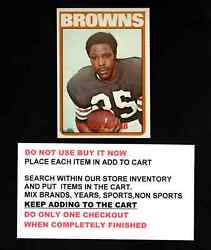 1972 Topps Football 101 To 200 Select Cards From Our List