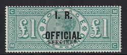 Sgo16 Spec L11s Andpound1 Green Official Specimen Ovpt-very Lightly Mounted Mint