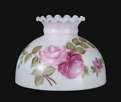 Bp Lamp Supply 10 Student Glass Lamp Shade W/ Queen Elizabeth Roses 01042