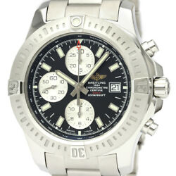 Polished Breitling Colt Chronograph Steel Automatic Mens Watch A13388 Bf528616
