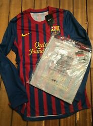 Barcelona L/s 2011/12 Player Issue Long Sleeve Home Shirt - New In Bag -