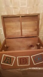Nike Air Toy Box Abctoy Box With Up Wooden Collectible Antique Vintage
