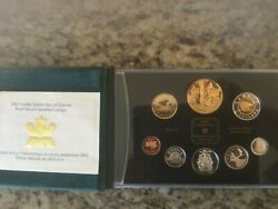 2002 Canadian Specimen Coin Set Queens Jibilee Double Dollar 24 Ct Gold Plate