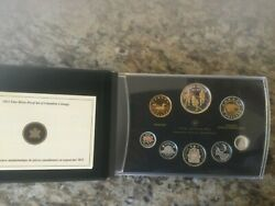 2012 Canadian Specimen Coin Set Double Dollar 24 Ct Gold Plate