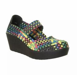 Steven By Steve Madden Brice Colorful Rainbow Art Wedge Shoes Us 8
