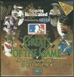1999 Fleer Greats Of The Game Baseball Factory Sealed Box, Extremely Rare