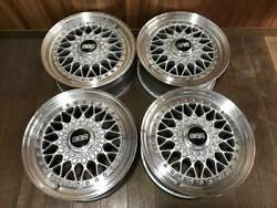 Genuine 15 Bbs Rs 043 5114.3 6.515 Et 36 3 Piece Forged Wheels
