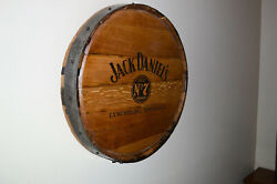 Barrel Head, Staves, And Hoop Wall Hanging From A Used Jack Daniels Whiskey Barrel