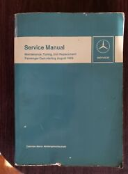 August 1959 Mercedes Benz Passenger Cars Service Manual Maintenance Tuningandnbsp