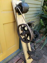 Vintage Pd 20 Post Drill Press W/craftsman Electric Motor 12wheel - Working
