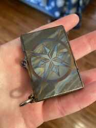 Steel Flame Compass Torch Zippo Lighter 2020 Tag Rare