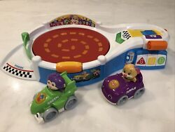 Fisher Price Laugh And Learn Puppyand039s Smart Stages Speedway Racetrack And 2 Cars