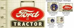 Ford Automobile And Tractor Decorative Fobs, Various Designs And Keychain Options