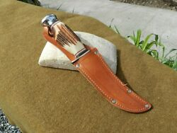 Vintage Ern Solingen Germany Fixed Blade Knife,with Sheath, Excellent