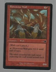 Flowstone Wall - Magic The Gathering - Red - Nemesis - Common - Jeff Miracola.