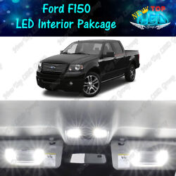 White Interior Led Lights Package License Plate Lights For 2004 - 2008 Ford F150