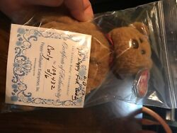Ty Beanie Baby Curly In Bag With Authenticity Paper