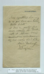 Gorki Maxim 1868-1936 Autograph Letter Signed In French Rarity Renowned Top