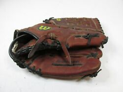 """Wilson A2500l Softball Glove 12.50"""" Aztec Leather Right Hand Thrower Glove"""