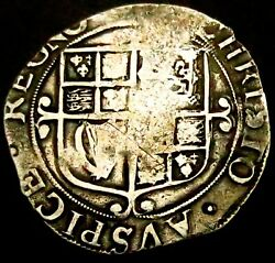 W212 1640-1 Charles 1st Hammered Silver Shilling Tower Im Star Spink 2799