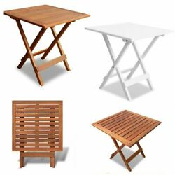Garden Folding Side End Coffee Tea Table Wooden Snack Table Small Square Outdoor