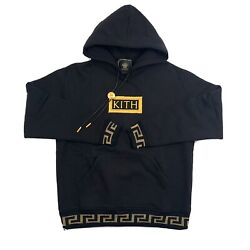 Versace X Kith Medusa String Embroidered Oversized Hoodie Size Xs Fits M