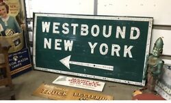 Vintage Button Copy Ny Highway Sign