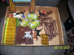 Vintage 50's T.cohn Fort Superior Playset Parts Lot Nice Condition Parts