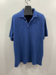 The Foundry Supply Co Blue Short Sleeve Polo Shirt Men#x27;s Size 2XL