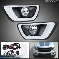 Clear Lens Bumper Driving Fog Light Lamp W/bezel+switch For 15-19 Chevy Colorado