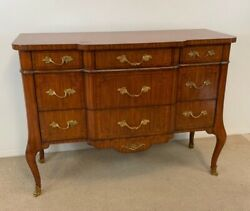 Maitland Smith French Style Satinwood Chest Inlay Details Bronze Mounts