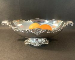 Vintage Lunt Silverplate Oval Footed Centerpiece Eloquence 17 X 9.5andrdquo X 6andrdquo A75