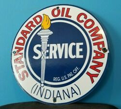 Vintage Standard Gasoline Porcelain Gas Service Station Pump Plate Sign