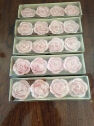 FLOATING CANDLES PINK FLORAL SCENTED NEW NIB 5 BOXES OF 4 LOT 20 TOTAL