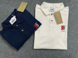 BURBERRY BNT WHITE NAVY BLUE COLOR POLO SHIRT SIZE S XXL $65.00