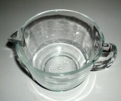 Fire King Anchor Hocking Clear Glass Gravy Server Mixing Bowl No Measure Marks