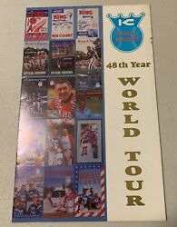 King And Court Official Program World Tour Softball 48th Year Eddie Feigner Auto