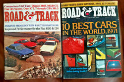 Road And Track Lot Of 2 Magazines July And August 1971 Datsun 240z Mgb-g Opel Gt