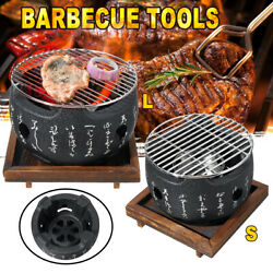 Mini Bbq Grill Japanese Style Portable Cooking Barbecues Round Table Charcoal