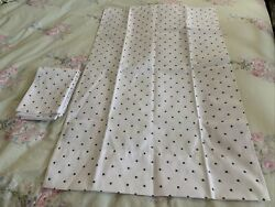 Chaps Home Gray Polkadot Standard Pillowcases New without Tags