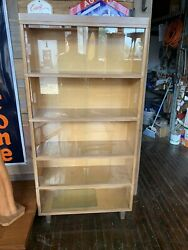 Beautiful Vintage Mcm Nucraft 5 Stacking Barrister Sliding Glass Doors Bookcase