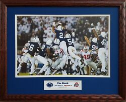 Penn State 2016 Rivalry Victory Over Ohio State The Block Custom Framed Picture