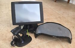 Lot Promac 15monitor Usb Barcode Laser Scanner W/stand And Fellows Monitor Riser