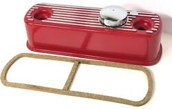 Classic Mini Valve Rocker Cover Flat Top Red W/ Chrome Vented Cap And Gasket